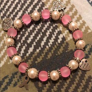 Breast cancer homemade bracelet